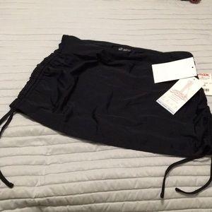 Water friendly black activity skirt